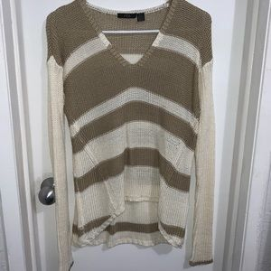 Striped Knitted Asymmetrical Top
